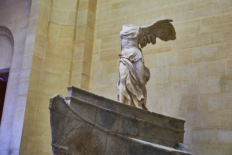 Louvre, Paris, Statue, Museum, France