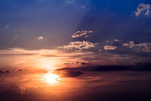 Sunset, Sun, Ciel, Soleil Couchant