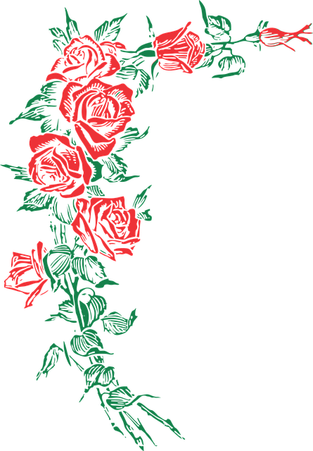 Rose Roses Floral 183 Free Vector Graphic On Pixabay
