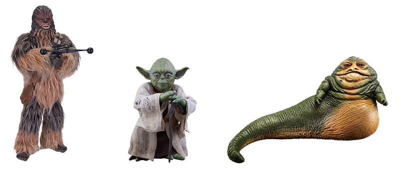 Figures, Star Wars, Isolated, Figure