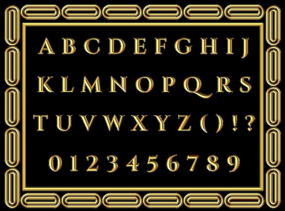 alfabetet på engelsk