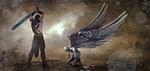fantasy, angel, hangman