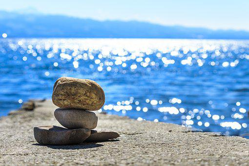 Cairn, Background, Water, Yoga, Mood