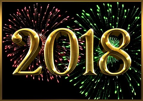 Silvester, 2018, Neujahr, Grußkarte
