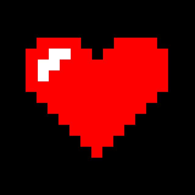 Pixel Heart · Free image on Pixabay