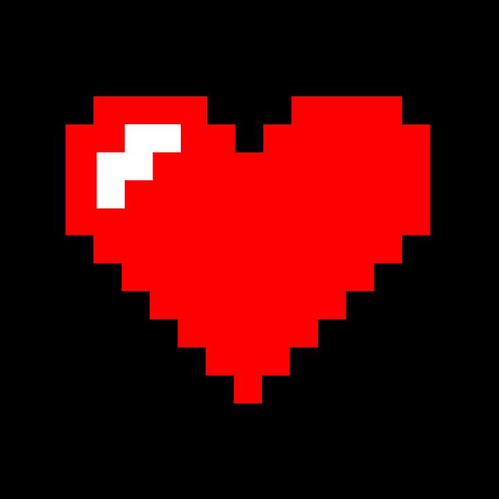 Pixel Heart Free Image On Pixabay