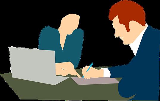 契約, 署名, 会議, 保険契約, ビジネス, マネージャー, 秘書