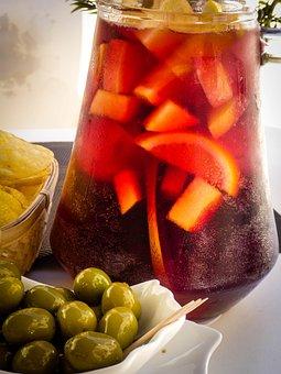 Sangria, Olives, Spanish, Food, Spain