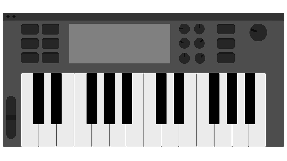 Keyboard Midi Controller Music Piano Vector
