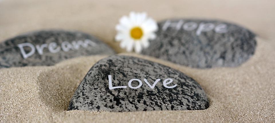 Stenen, Liefde, Dromen, Hoop, Zand, Emotie, Decor