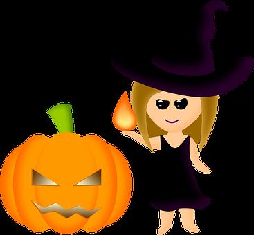 Halloween, Witch, Pumpkin, Magic