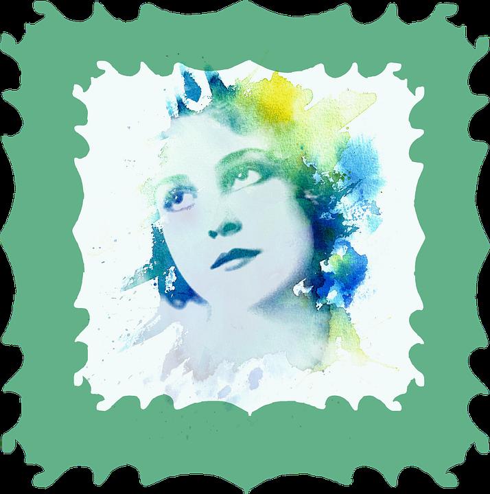 Rahmen Aquarell Frau · Kostenloses Bild auf Pixabay