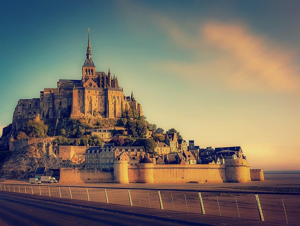 Mont Saint Michel, Abbey, Normandy, France, History