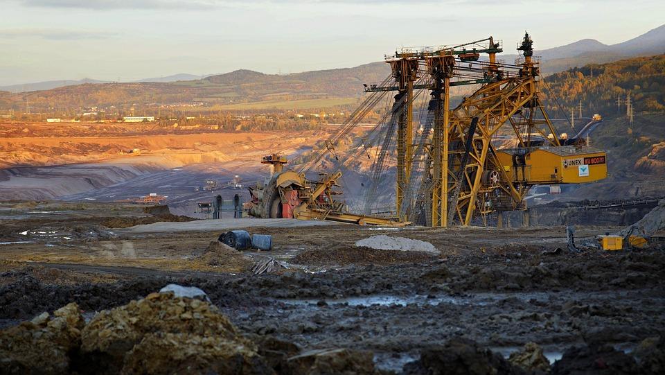 Extraktion, Bergwerk, Maschine, Kohle, Bagger