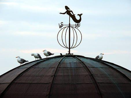 Weathervane, Roof, Gulls, More Virgin