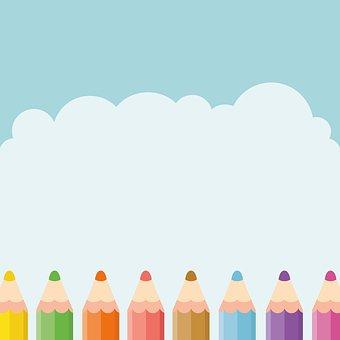 鉛筆, 空, 子供, かわいい, デザイン, 学習, 鉛筆, 鉛筆, 鉛筆