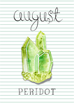 birthstone, august, peridot