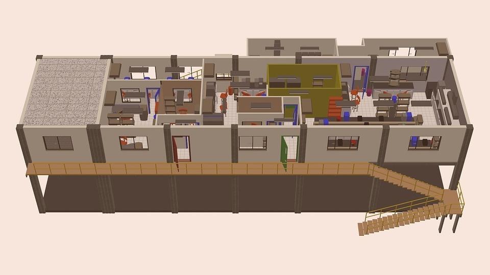 Architektur Design Machen 3d Modern Bau Industrie