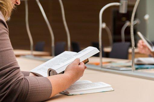 本を読む, ライブラリ, 読み, 教育, テスト, ワークデスク, 建物, 情報
