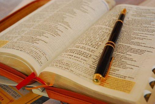 Buch, Füllfederhalter, Die Bibel, Studie