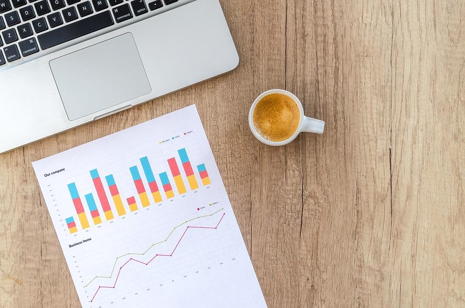 グラフ, ファイナンス, 金融, データ, 統計情報, 投資, 男, 手, 指, 人, 空, 木材, 紙