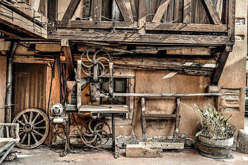 Band Saw, House, Timber-Framed, Colmar