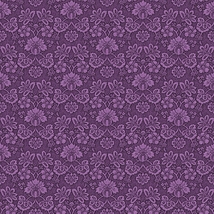 Damask Wallpaper Paper Background Purple Pattern