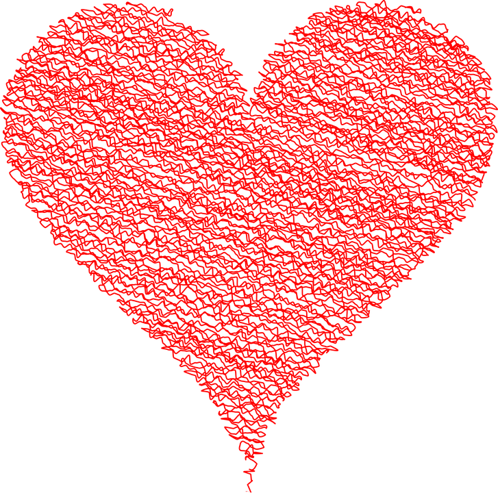 Heart Love Scribble Free Vector Graphic On Pixabay