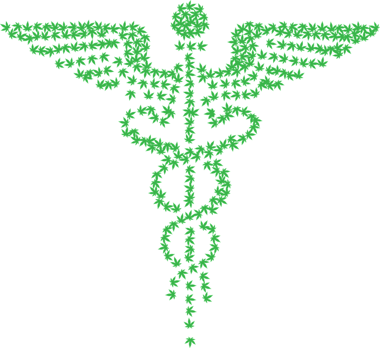 Caduceus Marijuana Medical Free Vector Graphic On Pixabay
