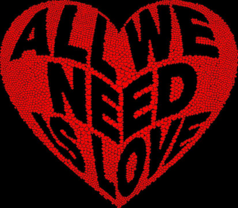 心, 愛, タイポグラフィ, ロマンス, 情熱, バレンタイン, コミュニティ, 平和, ハーモニー