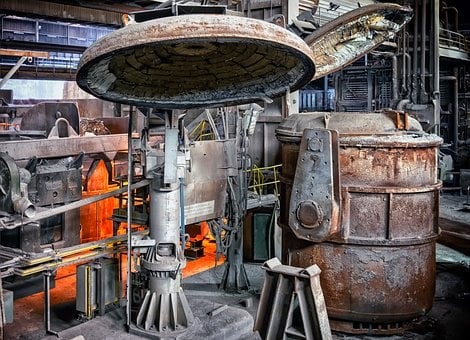 Steel, Foundry, Factory, Melt, Boiler