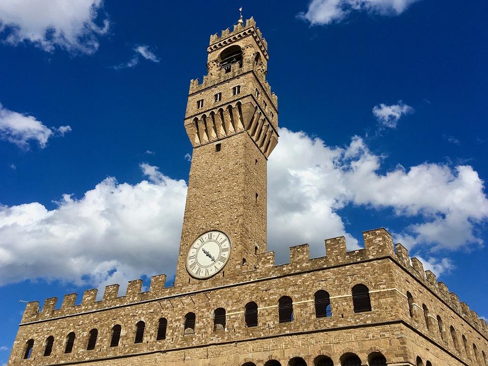Florence, Palazzo Vecchio, Vacances En Italie