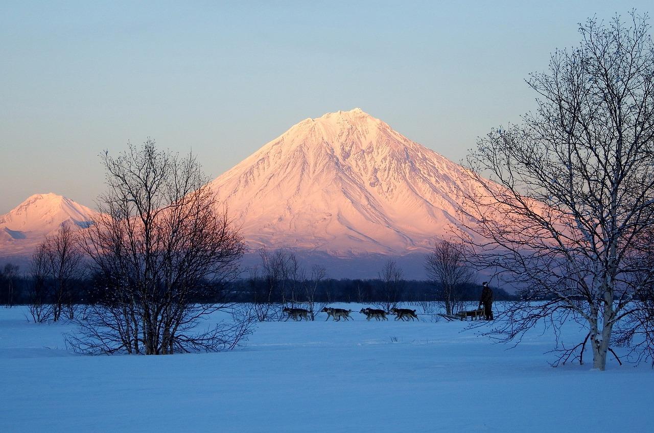 сращивание фото зимние пейзажи камчатки романтичные
