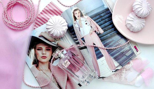 ピンク, 雑誌, 光沢, ゼファー, 甘い, 女性, ファッション