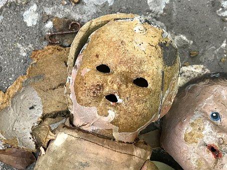 Vintage, Doll, Hurricane Harvey, Ruin