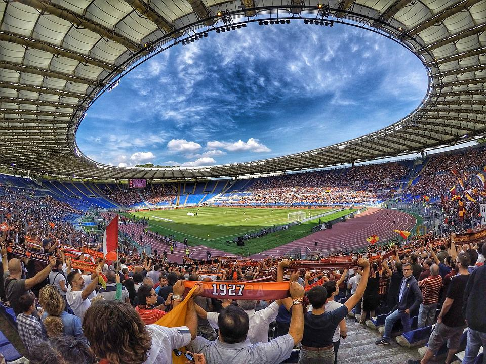 Stadium, Football, Turf, Rome, The Olympic Stadium