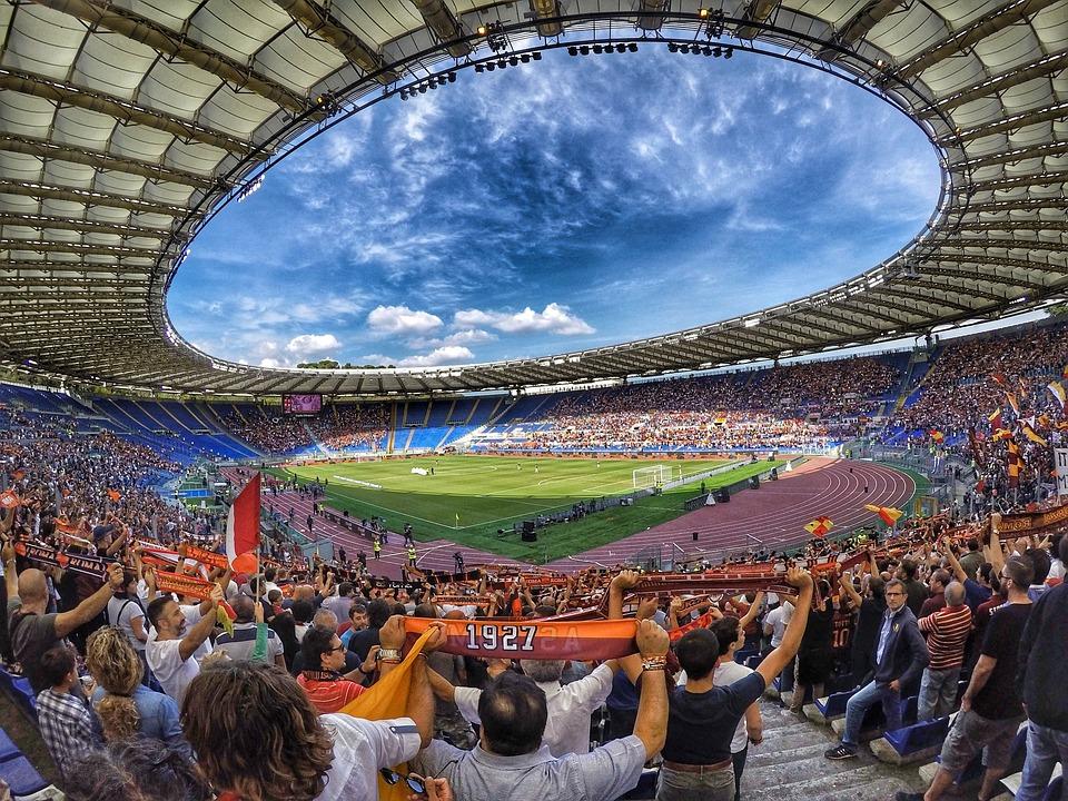 Stadion, Fußball, Rasen, Rom, Olympiastadion