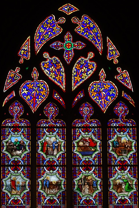 Stained Glass Windows Colors Church Religion