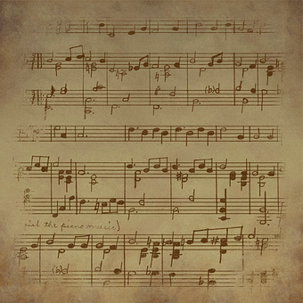 Vintage, Sheet, Music, Background