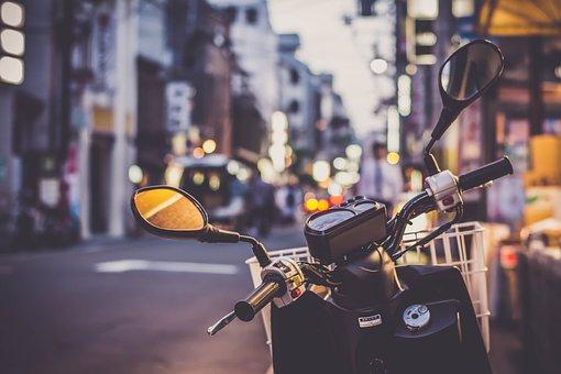 Scooter, Ásia, Jornada, Motocicleta