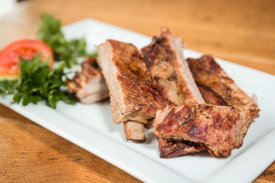 Carne, Carne Di Maiale, Le Costole, Griglia, Bbq, Fried