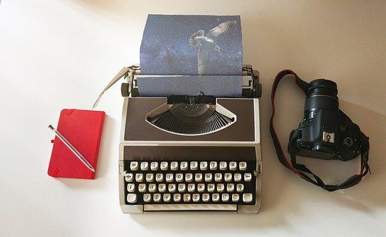 Schrijfmachine, Verbeelding, Vogel