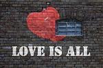 wall, brick, grafitti