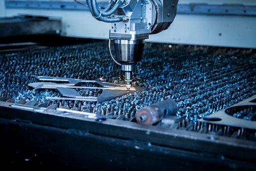 Laser, Cutting, Machine, Plasma, Sparks