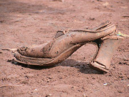 Shoe, Misery, Mud, Poverty