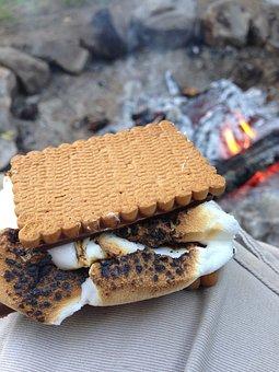Smores, Marshmallow, Camping, Campfire