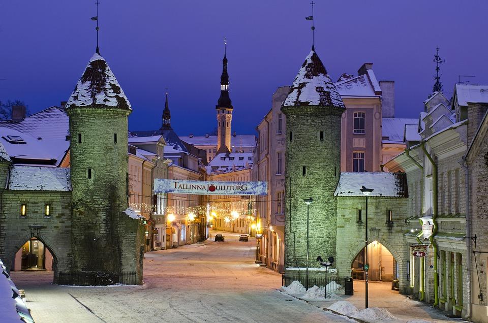 Tallin, Winter, Stadt