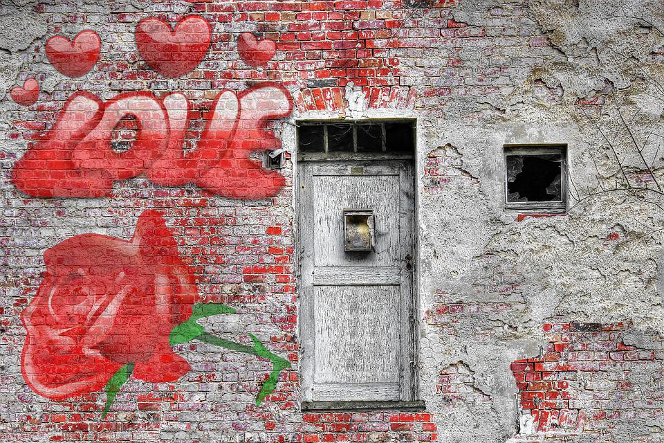 love wall rose vintage brick door couple young & Love Wall Rose · Free photo on Pixabay