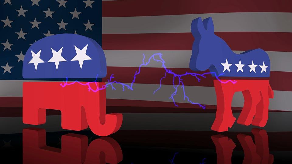 象, ロバ, お尻, ロゴ, 大統領選挙キャンペーン, 3 D, 政党, 選挙, 投票, キャンペーン