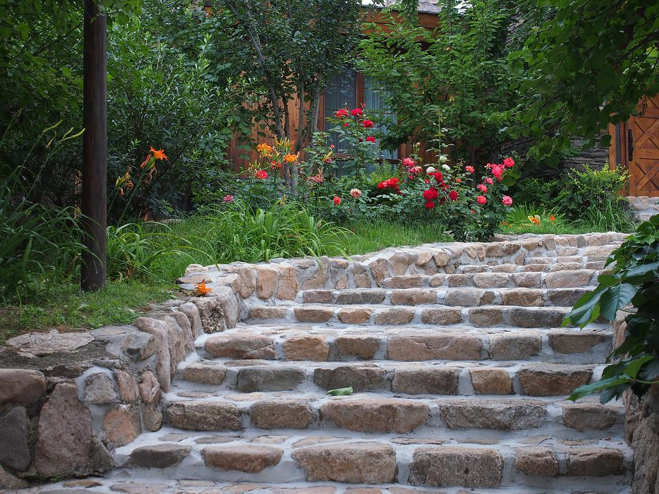 Free photo Garden Stairs Background Stroll Free Image on
